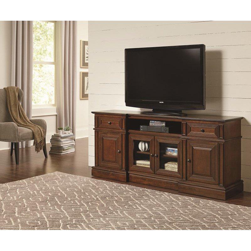 Progressive Furniture Sullivan 72 Inch Console TV Stand in Cherry (E797-72)