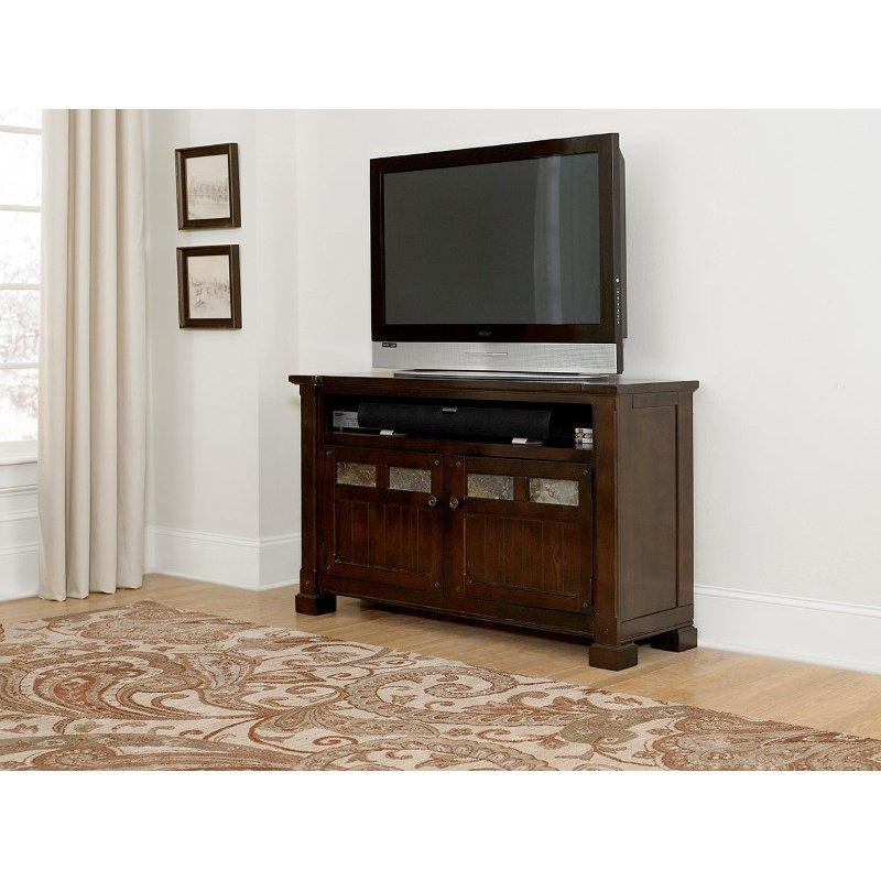 """Progressive Furniture Telluride 54"""" Console in Mesa Brown"""