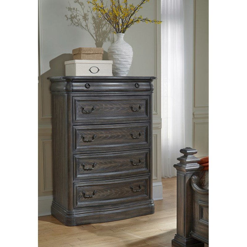 Progressive Furniture Terracina Chest in Smokey Oak (B121-14)