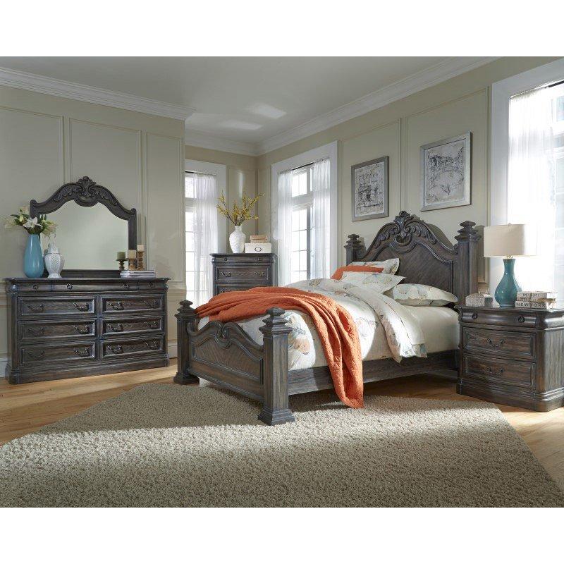 Progressive Furniture Terracina Marble Drawer Dresser in Smokey Oak (B121-23M)