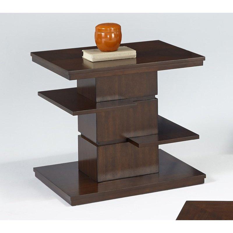 Progressive Furniture Waterfall Rectangular End Table in Bright Medium Birch