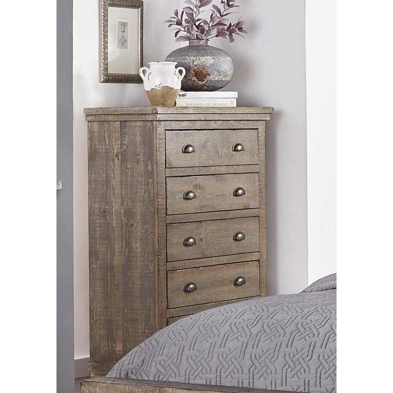 Progressive Furniture Willow Chest in Weathered Gray (P635-14)