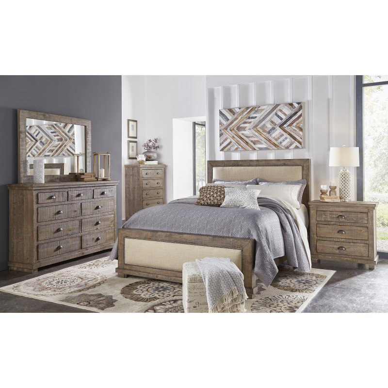 Progressive Furniture Willow Drawer Dresser in Weathered Gray (P635-23)