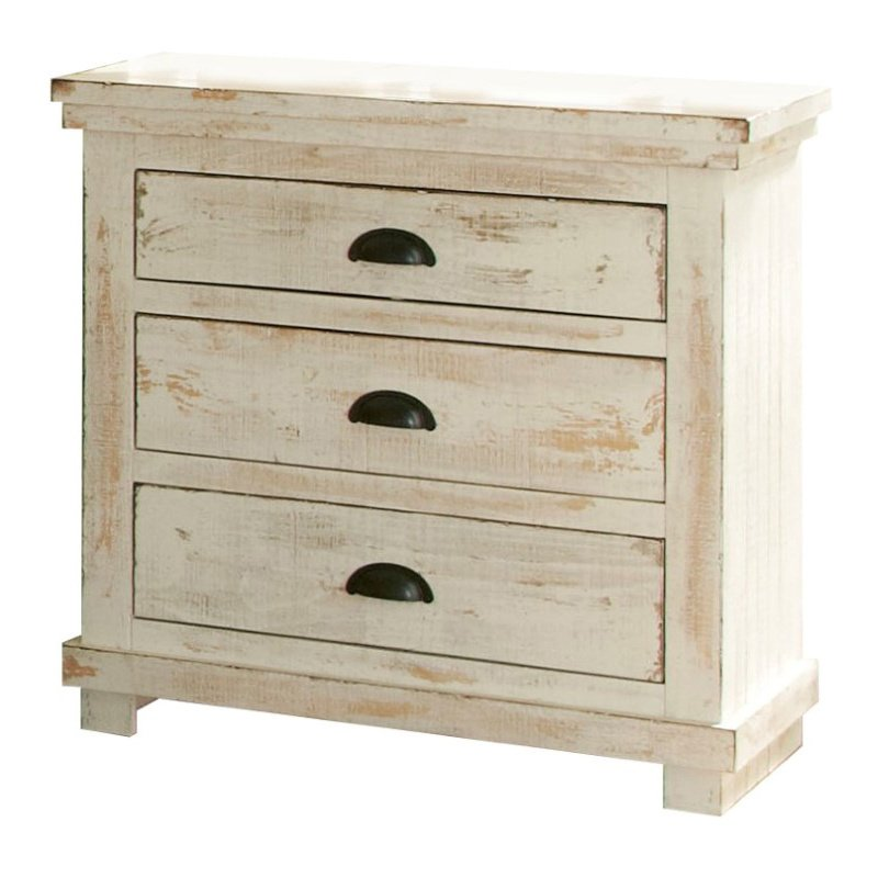 Progressive Furniture Willow Nightstand in Distressed White