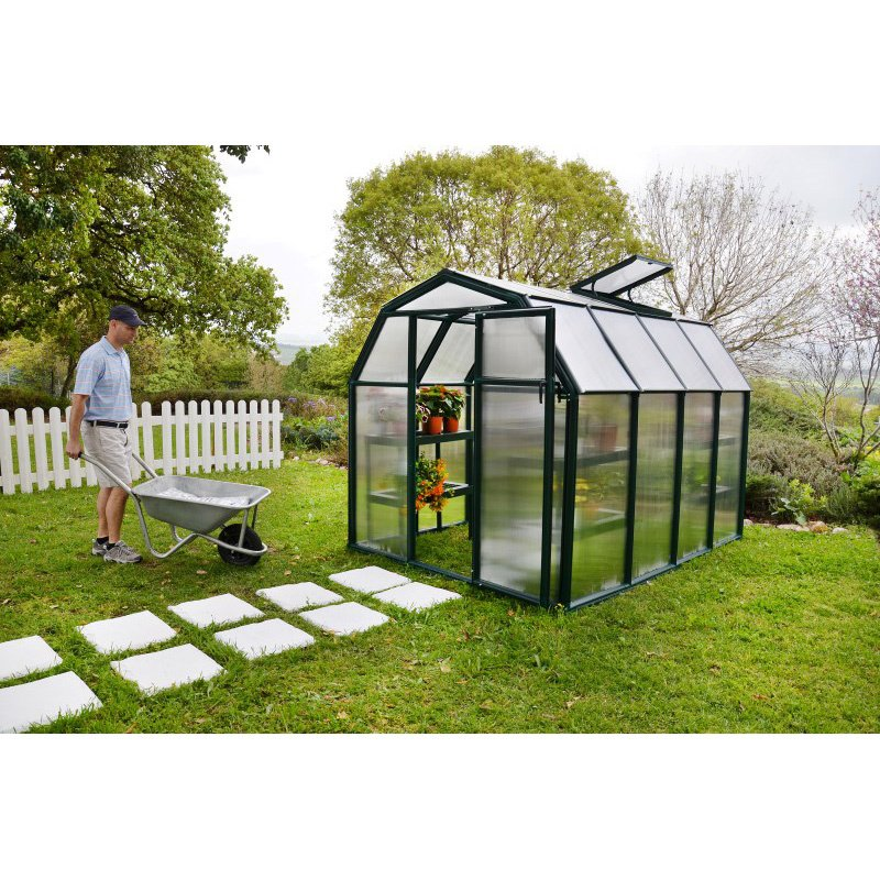 Rion EcoGrow 2 Twin Wall 6' x 8' Greenhouse