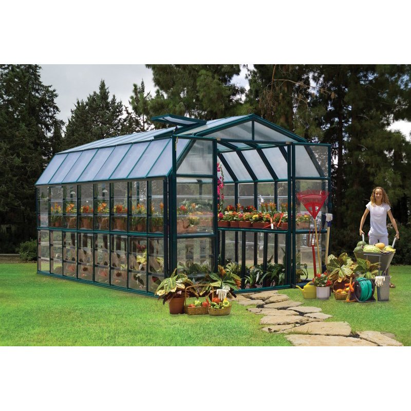 Rion Grand Gardener 2 Clear 8' x 16' Greenhouse