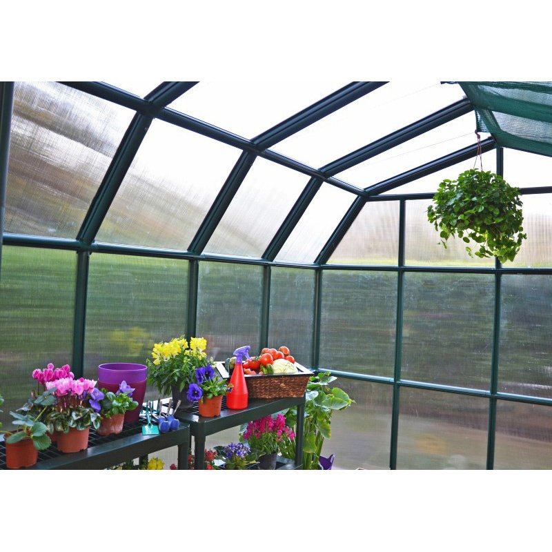 Rion Grand Gardener 2 Twin Wall 8' x 8' Greenhouse