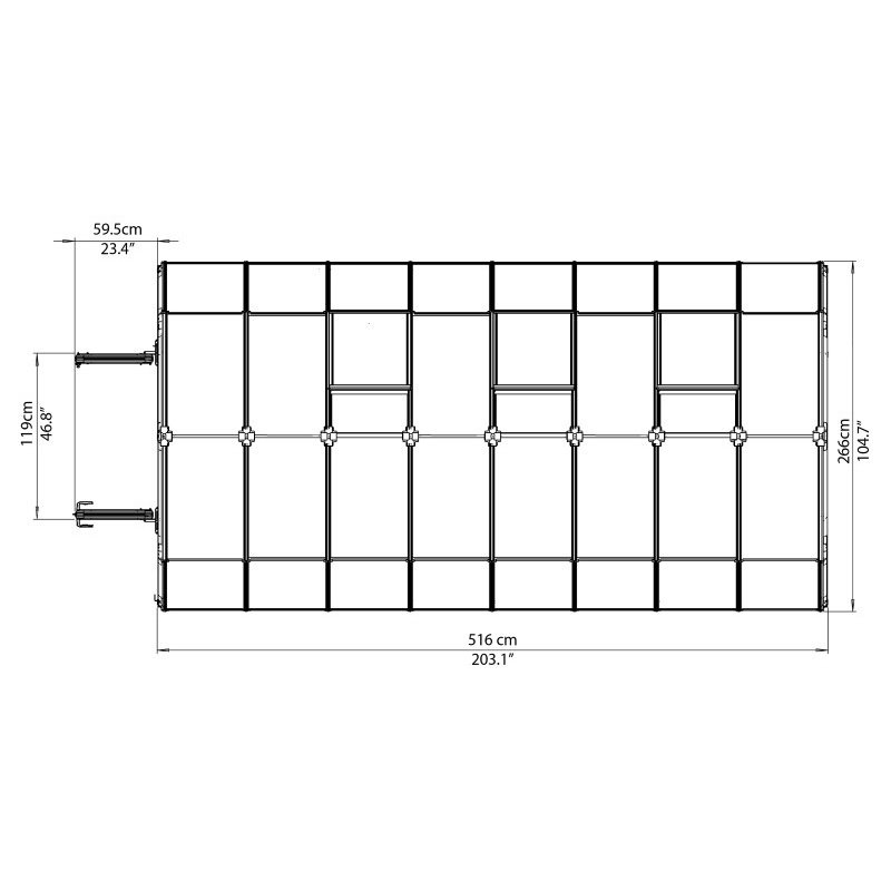 Rion Hobby Gardener 2 Twin Wall 8' x 16' Greenhouse