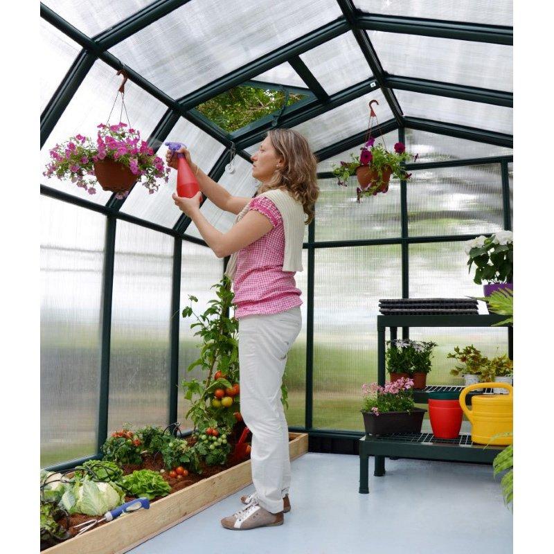 Rion Hobby Gardener 2 Twin Wall 8' x 8' Greenhouse