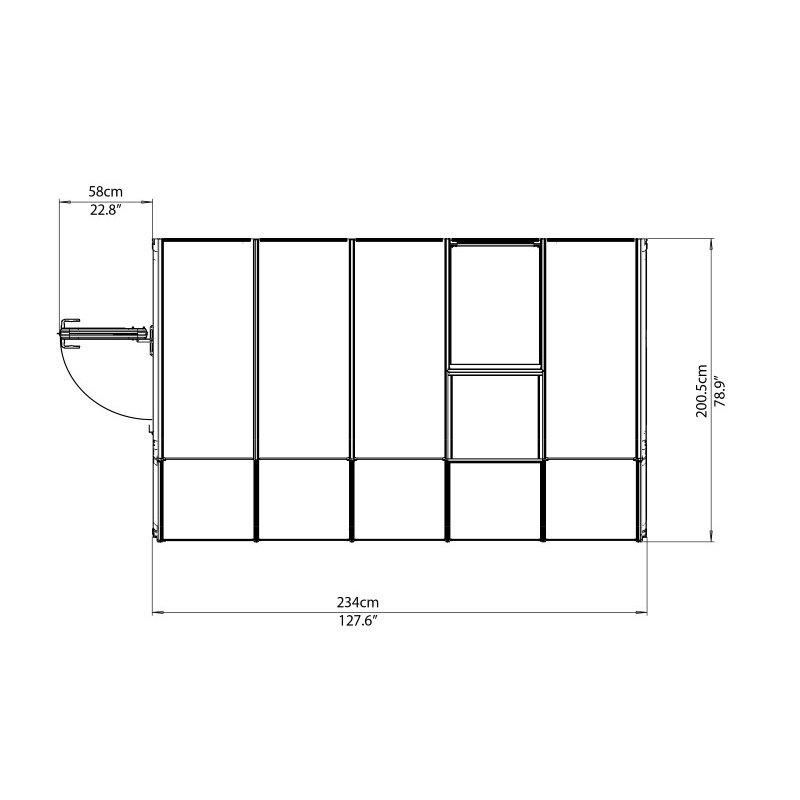 Rion Sun Room 2 - 6' x 10' Greenhouse