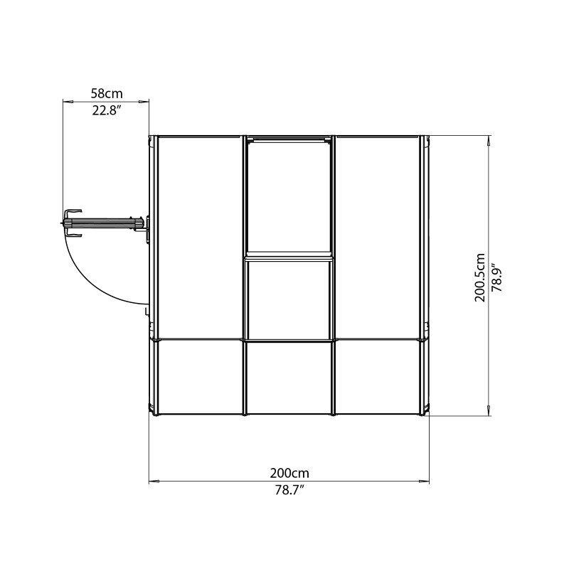 Rion Sun Room 2 - 6' x 6' Greenhouse