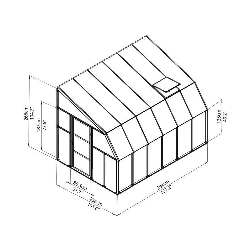 Rion Sun Room 2 - 8' x 12' Greenhouse