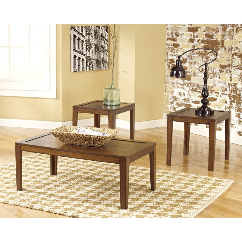 Signature Design by Ashley Hollytyne 3 Piece Occasional Table Set (FSD-TS3-13BN-GG)