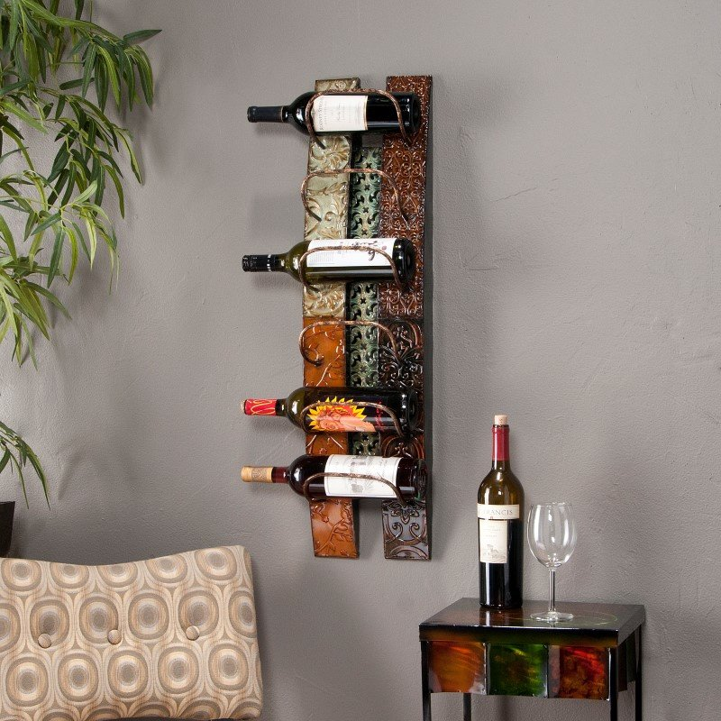 Southern Enterprises Adriano Wall-Mount Wine Storage