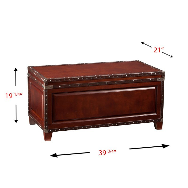 Southern Enterprises Amherst Trunk Cocktail Table