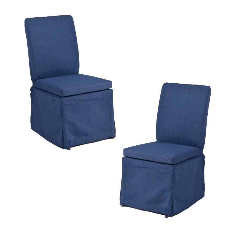 Southern Enterprises Aragon Outdoor Side Chairs 2-Piece Set