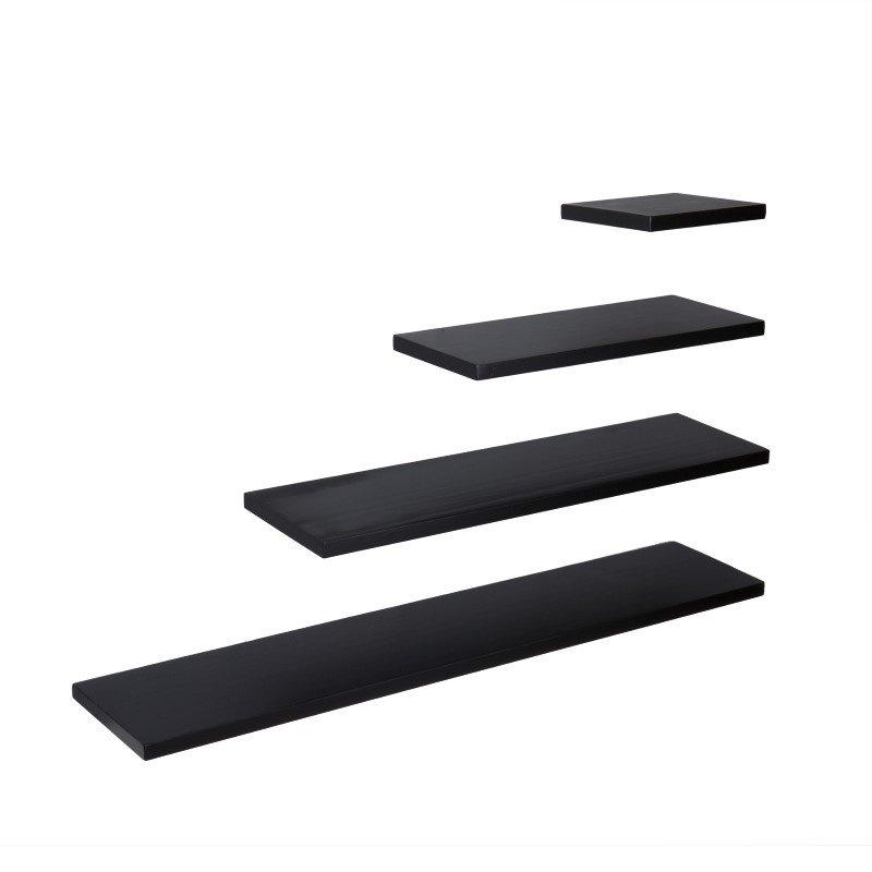 "Southern Enterprises Aspen Floating Shelf 10"" in Black"
