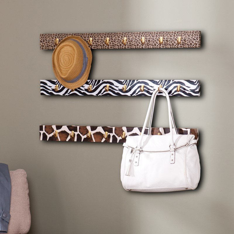 Southern Enterprises Barbosa Wall Hook 3-Piece System in Animal Print