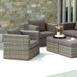 Southern Enterprises Bristow Outdoor Deep Seating Chair and Ottoman 4-Piece Set