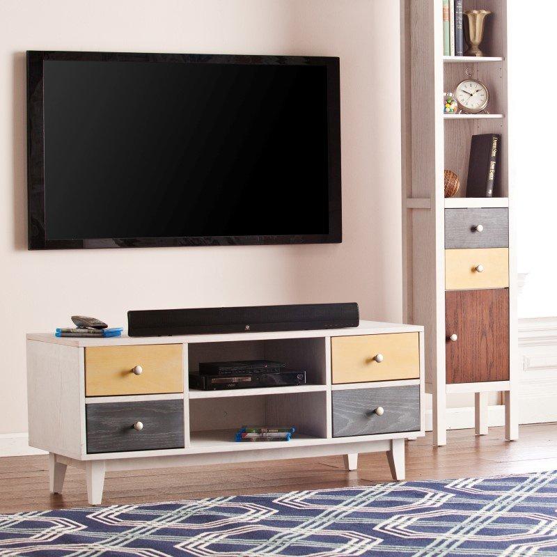 Southern Enterprises Cadman 4-Drawer TV/Media Stand