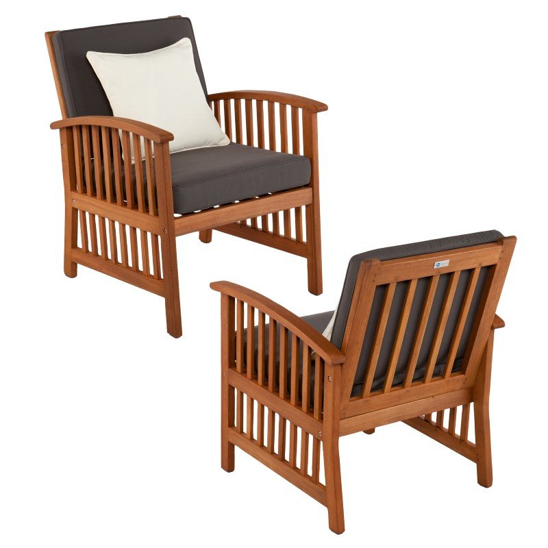 Southern Enterprises Catania Outdoor Armchairs in 2-Piece Set