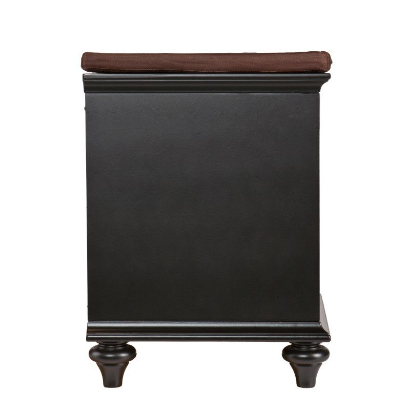 Southern Enterprises Chelmsford Entryway/Shoe Bench in Black