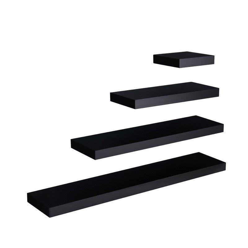 """Southern Enterprises Chicago 48""""Floating Shelf in Black"""