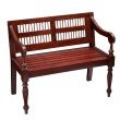 Southern Enterprises Classic Bench in Mahogany