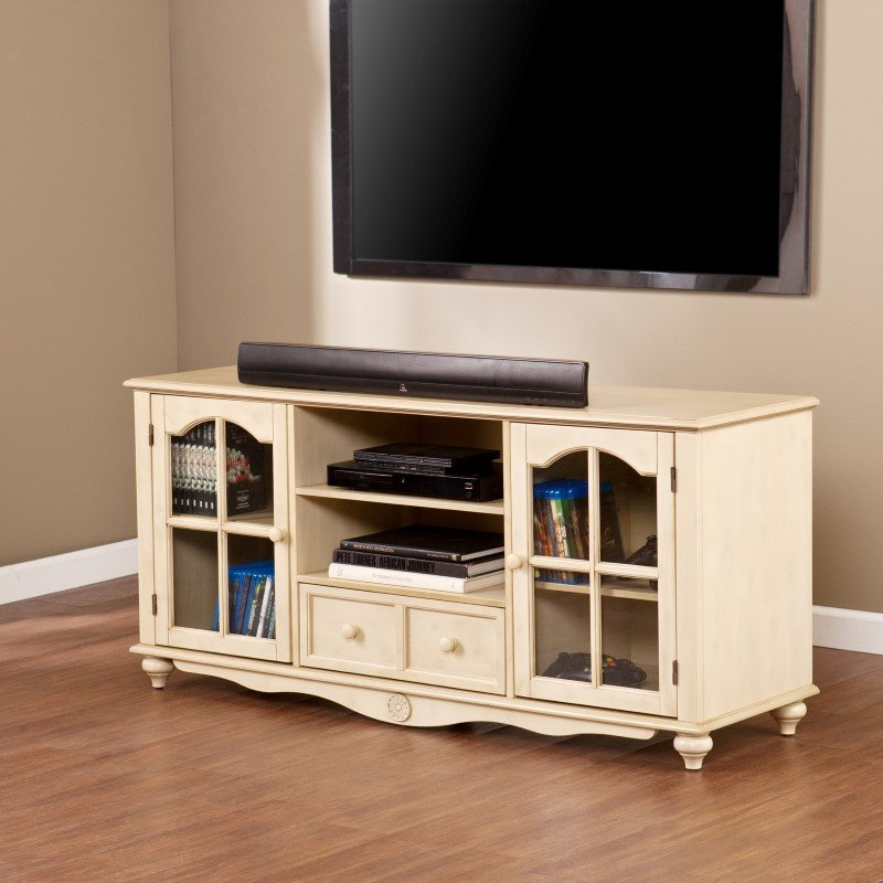 Southern Enterprises Coventry Large TV Console in Antique White