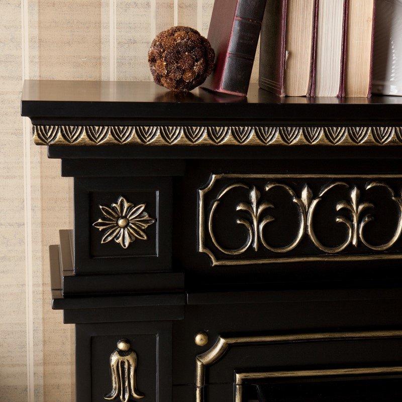 Southern Enterprises Donovan Electric Fireplace in Black