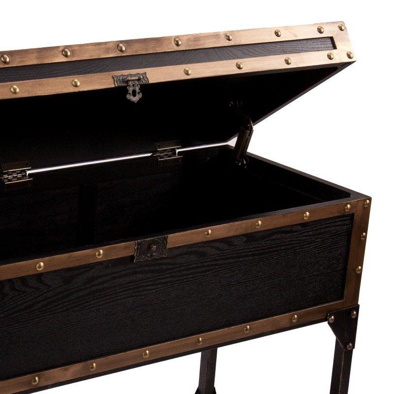 Southern Enterprises Drifton Travel Trunk Console Table