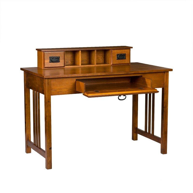 Southern Enterprises Francisco Desk in Mission Oak