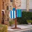 Southern Enterprises Hardwood Towel Rack in Oiled Finish