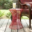 """Southern Enterprises Indoor/Outdoor 18.5"""" Round Metal Accent Table  in Red"""