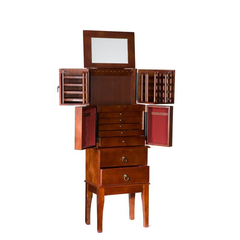 Southern Enterprises Jewelry Armoire in Cherry