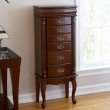Southern Enterprises Jewelry Armoire in Mahogany