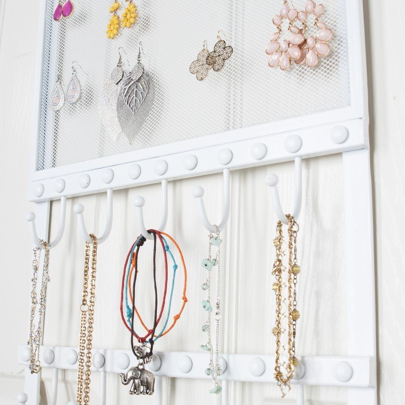 Southern Enterprises Karlee Over-the-Door Jewelry Storage with Mirror