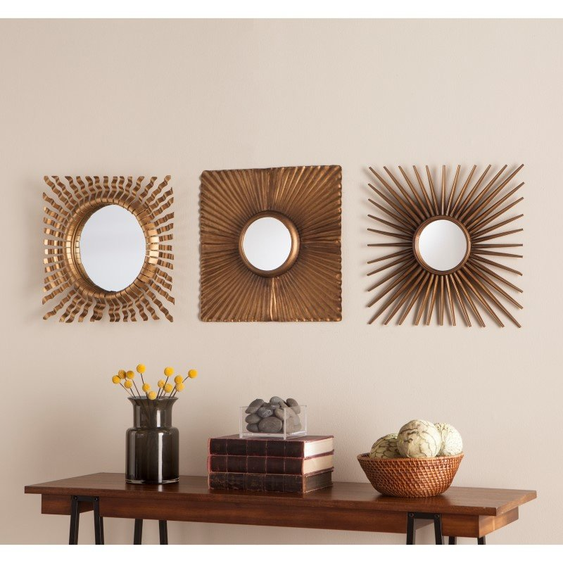 Southern Enterprises Lorzy 3 Piece Decorative Mirror Set
