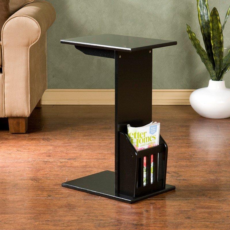 Southern Enterprises Magazine Snack Table in Black