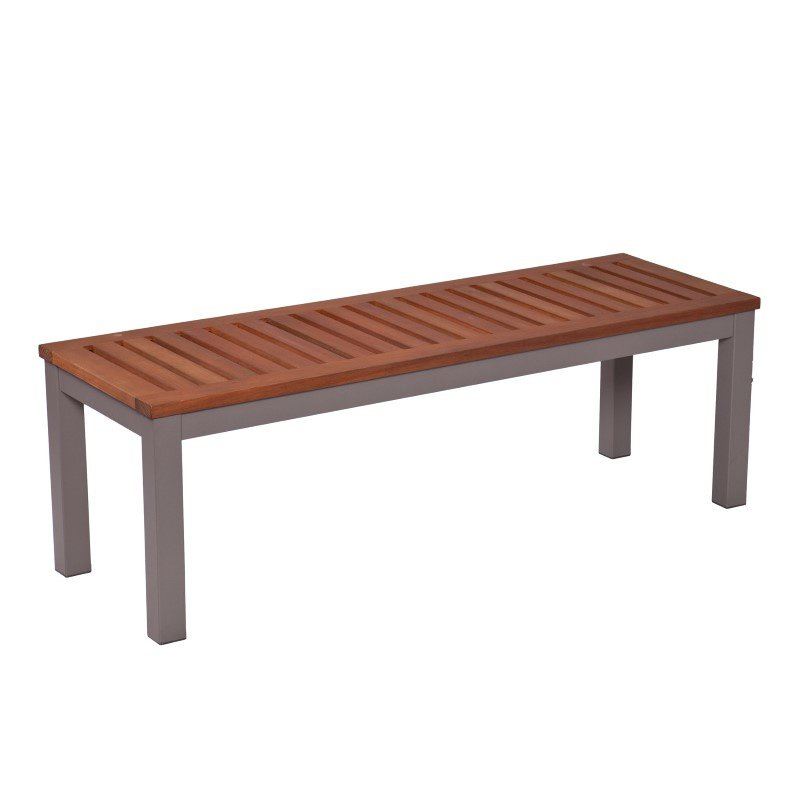 Southern Enterprises Mandalay Outdoor Backless Bench in Gray