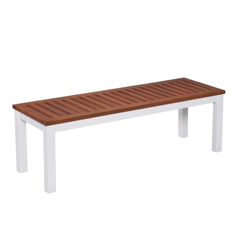Southern Enterprises Mandalay Outdoor Backless Bench in Soft White