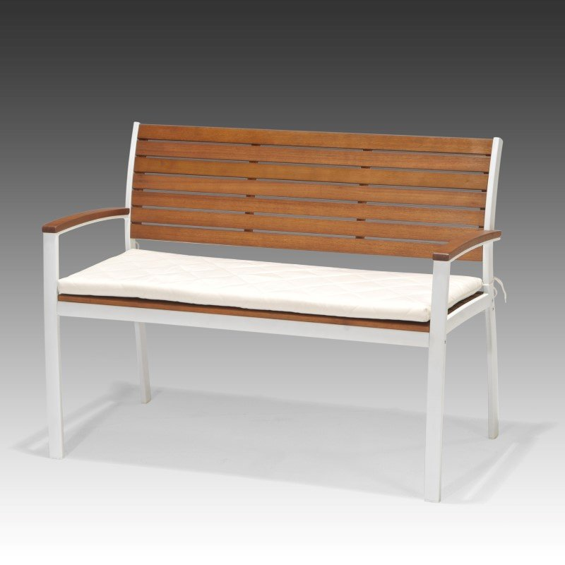 Southern Enterprises Mandalay Outdoor Bench in Soft White