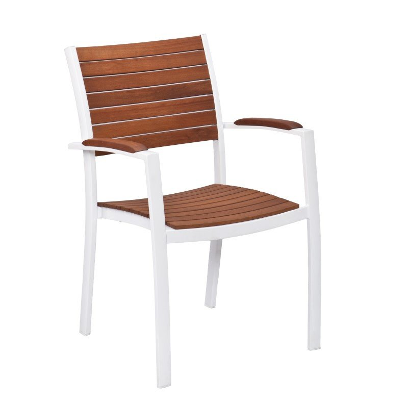 Southern Enterprises Mandalay Outdoor Easy Chairs 2-Piece Set in Soft White