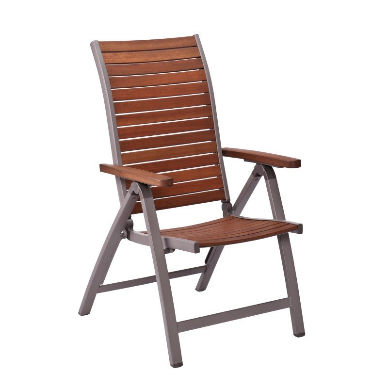 Southern Enterprises Mandalay Outdoor Position Chairs 2-Piece Set in Gray