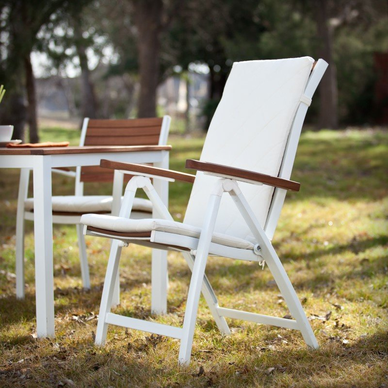 Southern Enterprises Mandalay Outdoor Position Chairs 2-Piece Set in Soft White