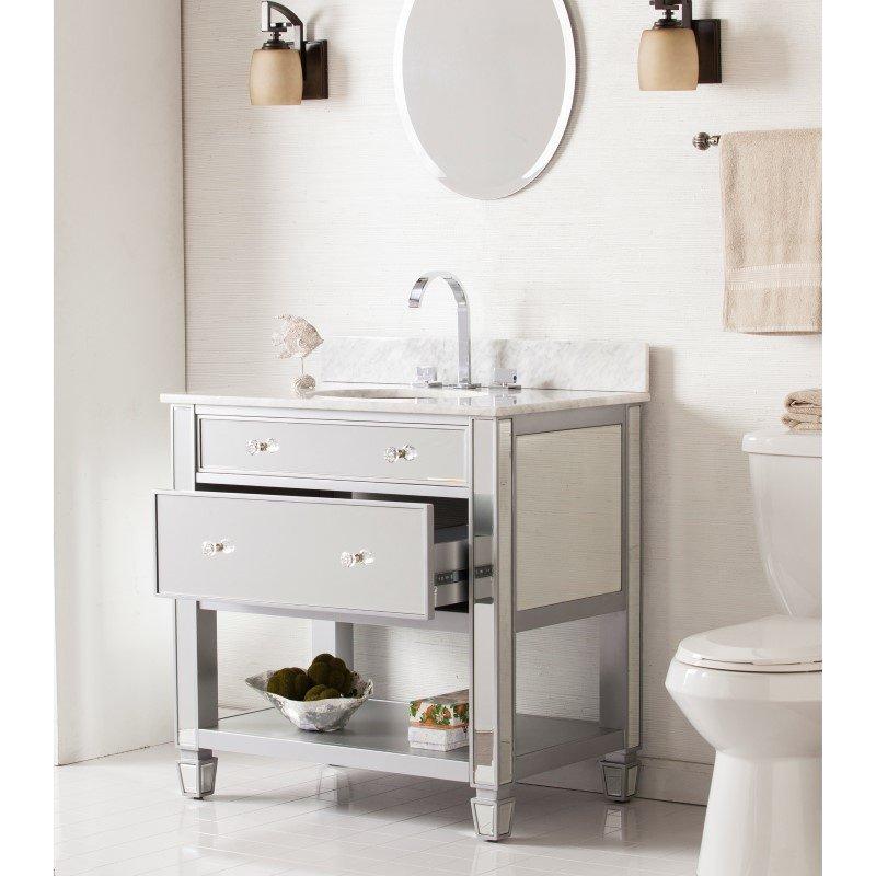 Southern Enterprises Mirage Bath Vanity Sink with Marble Top