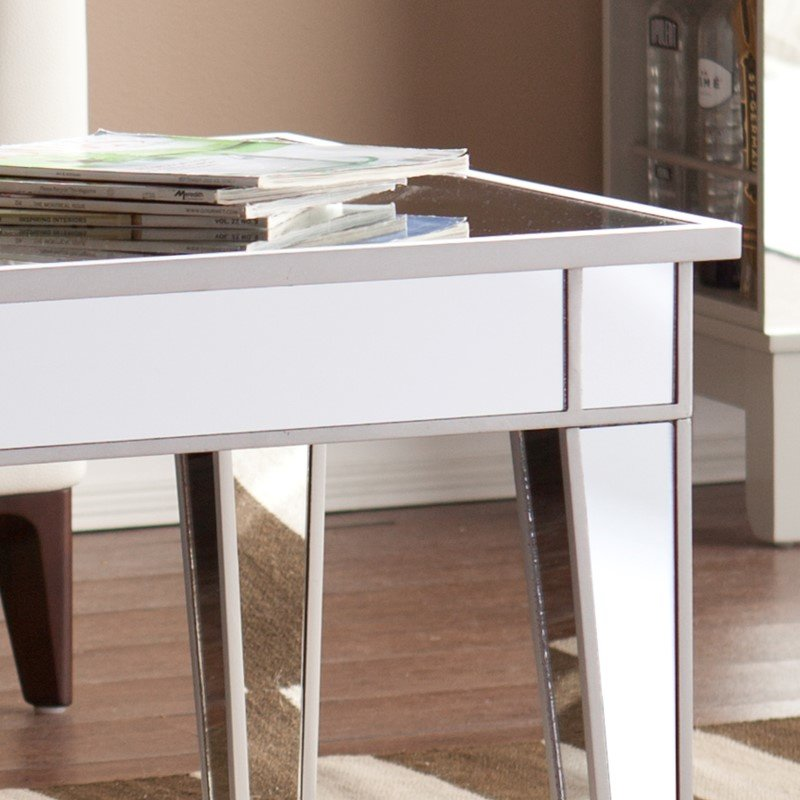 Southern Enterprises Mirage Mirrored Cocktail Table
