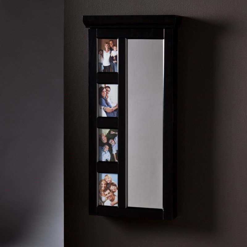 Southern Enterprises Moore Photo Jewelry Mirror in Black