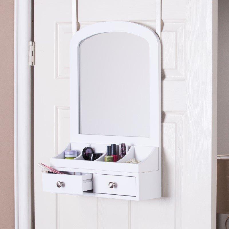 Southern Enterprises Myla Over-the-Door Jewelry Mirror/Accessory Organizer