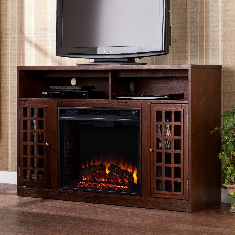 Southern Enterprises Narita Media Electric Fireplace in Espresso